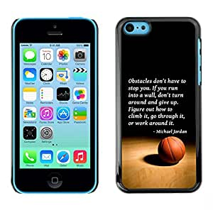 Plastic Shell Protective Case Cover || Apple iPhone 5C || Jordan Quote Sport @XPTECH