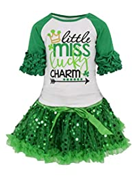 Unique Baby Girls St Patrick's Day Lucky Charm Skirt Set