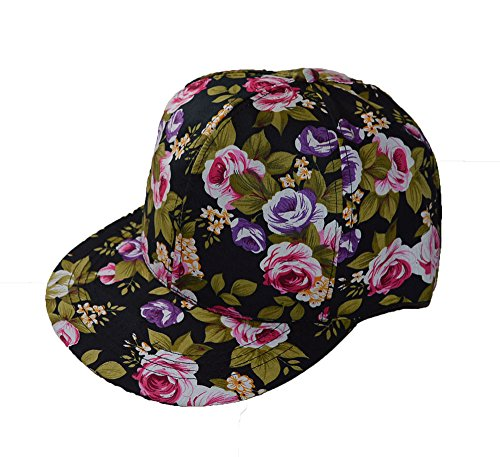 Floral Snap Negro Cool Cap Surf estampado Back ZRxwnq8Ep