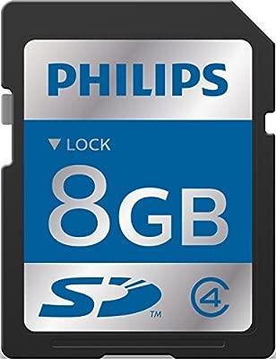 Philips acc9008 SDHC Tarjeta de memoria, 8 GB para Philips ...
