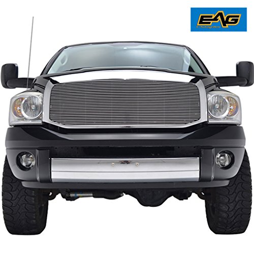 EAG Replacement Grille for 06-08 Dodge Ram 1500/06-09 Dodge Ram 2500 3500 - Aluminum Billet Upper Front Grill