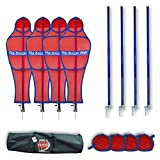 Soccer Innovations The Soccer Wall Youth Portable Training Defender with Carry Bag, Red, Set of 4