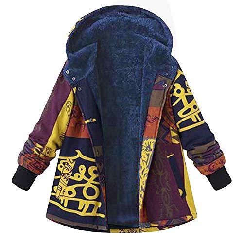 XOWRTE Women's Cotton Hasp Winter Warm Thicker Hooded Jacket Overcoat Outwear Coat