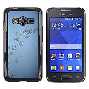 LECELL--Funda protectora / Cubierta / Piel For Samsung Galaxy Ace 4 G313 SM-G313F -- Bubbles Grey Blue Wonder Deep --