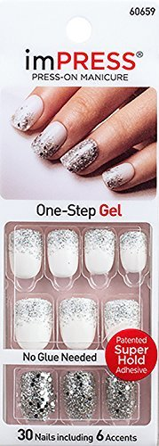 Kiss GEL imPRESS''ONE SHINE DAY'' Press-On Manicure Gel Coated Nails by Broadway by Broadway