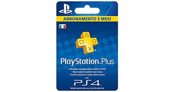 Sony Playstation Plus Card Hang Abbonamento 3 MESI ...