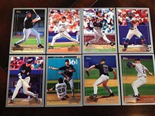 1999 Topps Opening Day New York Mets Team Set 8 Cards Mike Piazza (1999 Topps Chrome Football)
