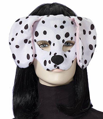 Forum Novelties ages 8+ Plush Dalmatian Mask, White/Black, One (101 Dalmatians Halloween Costumes)