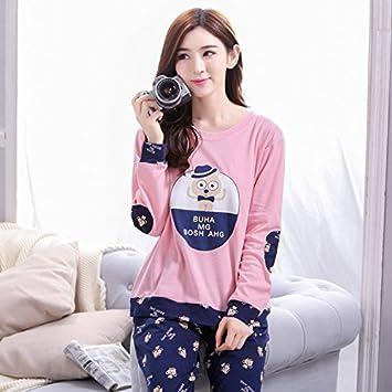 lkklily-in primavera y otoño la pareja pijama algodón manga larga Ralph Lauren manga larga