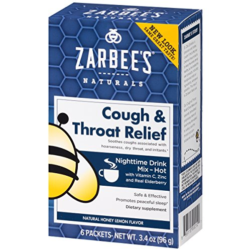 Zarbee's Naturals Cough & Throat Relief Nighttime Drink Mix with