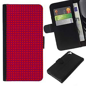 Planetar® Modelo colorido cuero carpeta tirón caso cubierta piel Holster Funda protección Para HTC Desire 820 ( Texture Pink Dots )