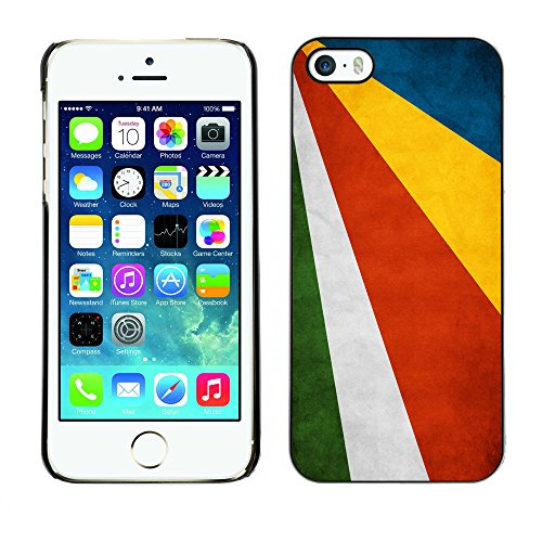 Omega Case PC Polycarbonate Cas Coque Drapeau - Apple iPhone 5 / 5S ( Seychelles Grunge Flag )