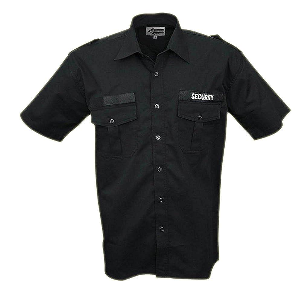 Commando Industries CI Security Diensthemd Langarm oder Kurzarm Securityhemd Herrenhemd Damenhemd Schwarz Gr S-3XL