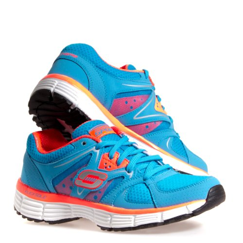 Skechers Womens 11694 Agility New Vision Athletic Shoe, Blue/Coral, US 9