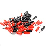 uxcell Audio Speaker Cable Wire 4mm Banana Connector Adapter Black Red 30 Pairs