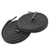 "Flat Shoelaces 5/16"" Wide Lengths 52"",Shoes Lace (3 Pair Pack) - Shoelaces - Flat Shoe Laces for Sneakers and Shoes Athletic -Black"