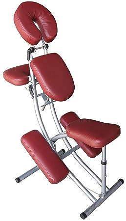 plus récent fc570 bc885 Chaise de massage - Aluminium - Sac inclus - Rouge