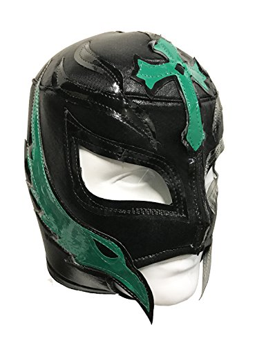 REY MYSTERIO Adult Lucha Libre Wrestling Mask (pro-fit) Costume Wear - Black/Green