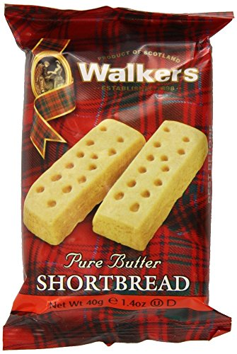 Walkers Shortbread Fingers, 2 Count (Pack of 24), Traditional and Simple Pure Butter Shortbread Cookies from the Scottish Highlands, Quality Ingredients, Free from Artificial Flavors