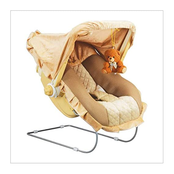 Flipko Multipurpose 12 in 1 Baby Bouncer/Carry Cot with Music and Mosquito Net (Beige)