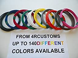 Automotive Copper Wire, TXL, 16 GA, AWG, GAUGE Truck, Motorcycle, RV, General Purpose. Order by 3pm EST Shipped Same Day (10 Colors 10\' Each) (10 COLORS BY 25\' EACH)