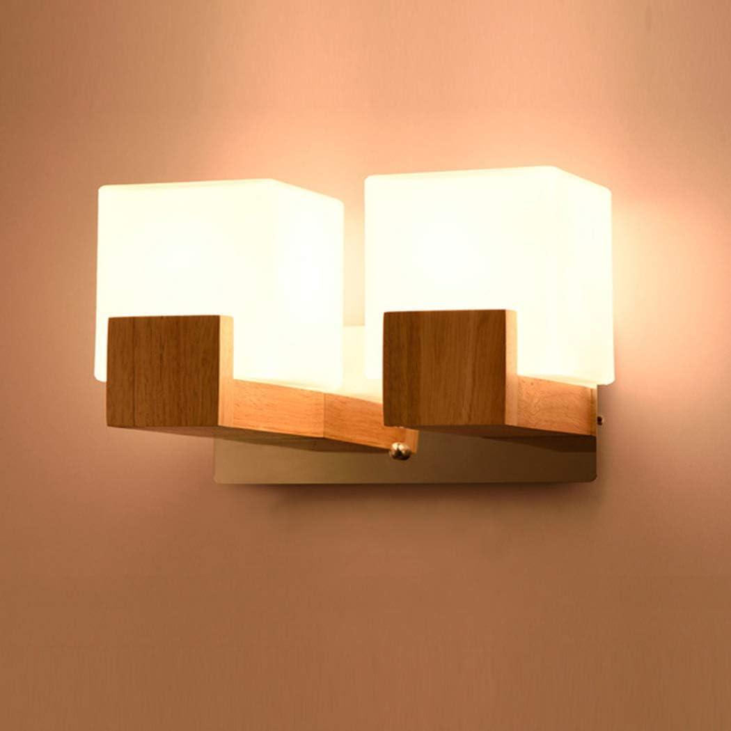 W&HH Wandleuchte WandLampe Holz für Wohnzimmer Schlafzimmer