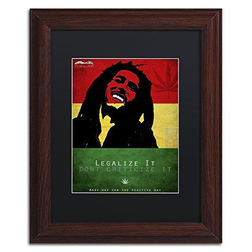 Trademark Fine Art Legalize It by Potman in Black Matte and Wood Frame