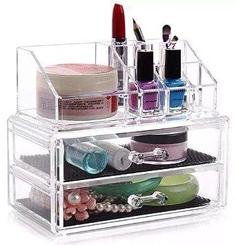 52e45ce3e81 Organizador De Maquiagem Acrílico Metaltru Transparente: Amazon.com ...