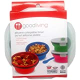 Good Living Collapsible Silicone Bowl With Lid, Assorted Colors
