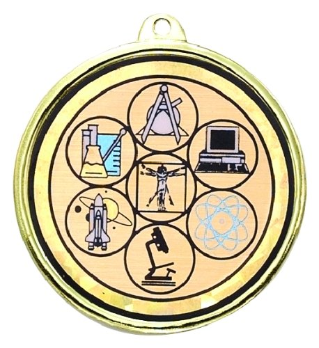 Science Fair Medal comes with Neck Ribbon - Pack of 10 (Science Fair Ribbon)