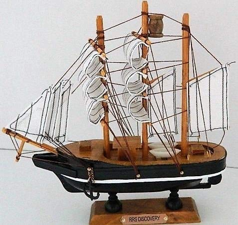 Cauldron Gifts WOODEN MODEL RRS DISCOVERY SHIP