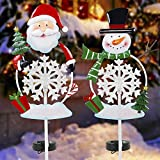 FORUP Solar Christmas Yard Decorations, Outdoor LED