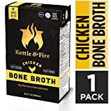 Chicken Bone Broth Soup by Kettle and Fire, Pack of 2, Keto Diet, Paleo Friendly, Whole 30 Approved, Gluten Free, with Collag