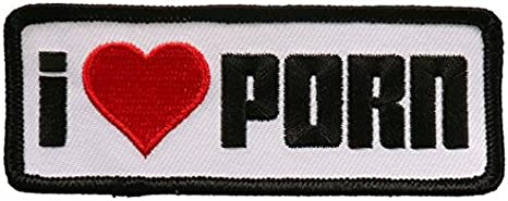 X2 Peace Heart Red /& White Iron Sew On Clothes Embroidered Badges