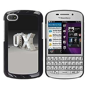 Be Good Phone Accessory // Dura Cáscara cubierta Protectora Caso Carcasa Funda de Protección para BlackBerry Q10 // UX