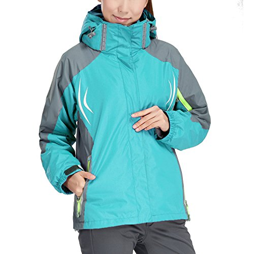 womens 3 in 1 rain jacket - 1