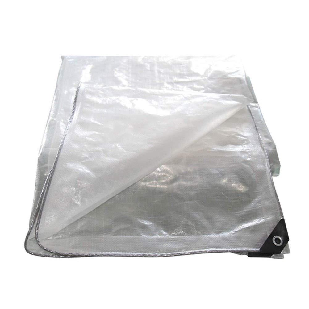 Clear 7x10m Wangcfsb Imperméabilisez 100% d'agent d'imperméabilisation Transparent et Efficace avec des Trous en métal, Verre Doux Facile à Utiliser de PVC, (Couleur   Clear, Taille   3x4M)