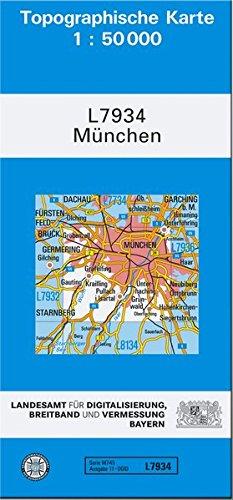 TK50 L7934 München: Topographische Karte 1:50000 (TK50 Topographische Karte 1:50000 Bayern)