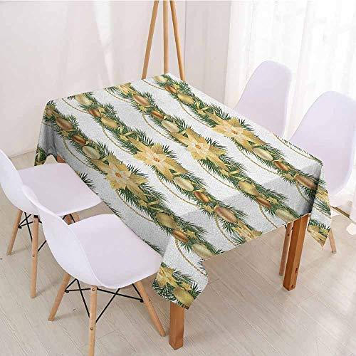 ScottDecor Fabric Tablecloth Rectangular Polyester Tablecloth W 60
