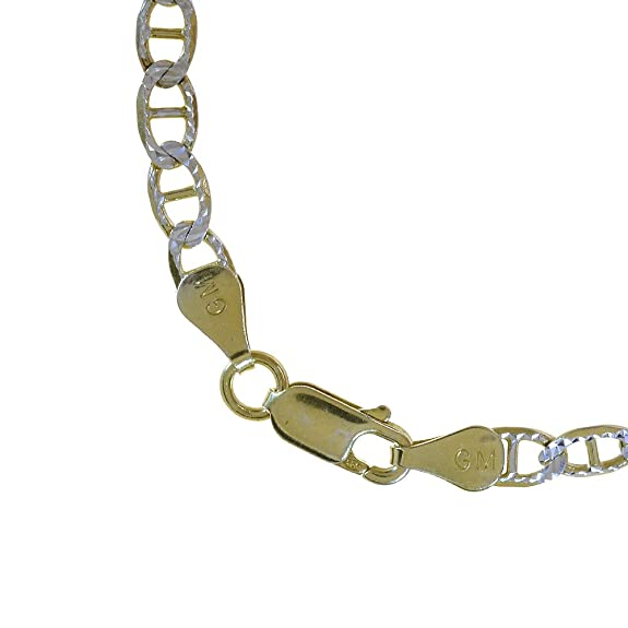 b3be02613fc7f Amazon.com  Avital   Co. Gucci Link Diamond Cut Chain Necklace Two Tone  Gold Over Silver 20