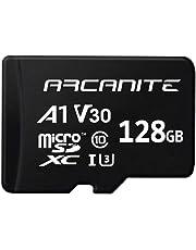 ARCANITE 128 GB microSDXC-Speicherkarte mit Adapter - UHS-I U3, A1, V30, 4K, C10, microSD - AKV30A1128