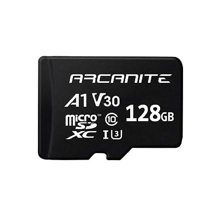 ARCANITE - Tarjeta de memoria microSDXC de 128 GB con adaptador, UHS-I U3, A1, V30, 4K, Clase 10, Micro SD - AKV30A1128