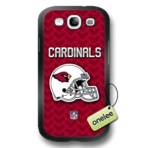 NFL Arizona Cardinals Team Logo Black Diy For Iphone 4/4s Case Cover PC(Hard) Soft - Black