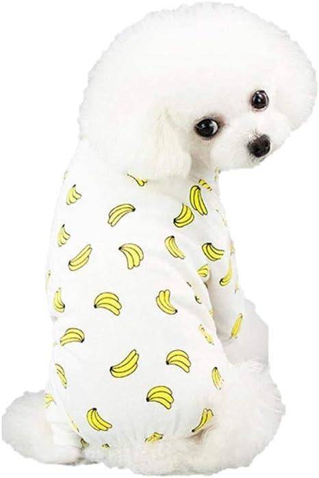 Ducomi Pijama de algodón para perros de talla pequeña y mediana – Pijama de gatos con 4 patas – Conjunto de mono de animales domésticos, gato – ...