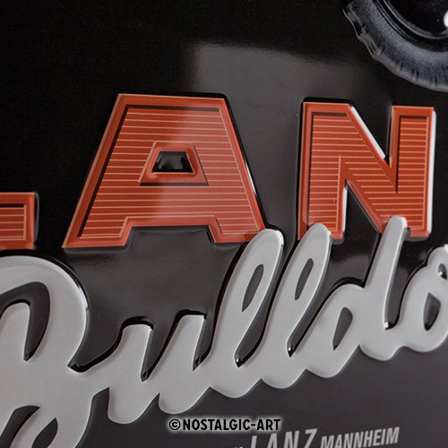 Nostalgic-Art 23236 Lanz Bulldog, Cartel de Chapa, 30 x 40 ...