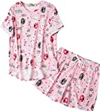 Amoy madrola Women Cotton Sleepwear/Short Sets/Pajamas Set SY214-Cat-M