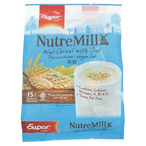Super NutreMill 3 In 1 / 4 In 1 / 5 In 1 Cereal (628MART) (4 in 1 Cereal With Oat 525g, 1 Count)