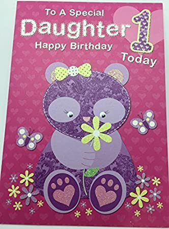 Amazon Cute Daughter 1st Birthday Greeting Card Girl Age