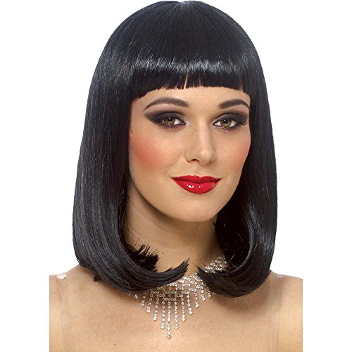 Franco Peggy Sue Wig in Black, One Size