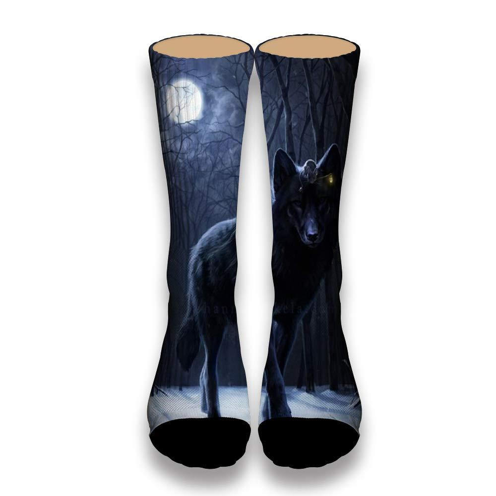 Arctic Wolf Howling Poster AlyGoo 3D Print Funny Custom Crew Casual Socks